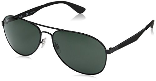 Ray-Ban Herren Sonnenbrille Rb 3549 Matte Black/Green, 61