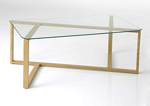 Amadeus Table Basse en Verre, Collection Korb