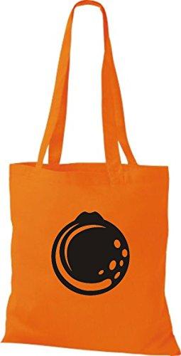 ShirtInStyle Stoffbeutel Baumwolltasche Dein Lieblings Obst und Gemüse Orange Farbe Pink orange