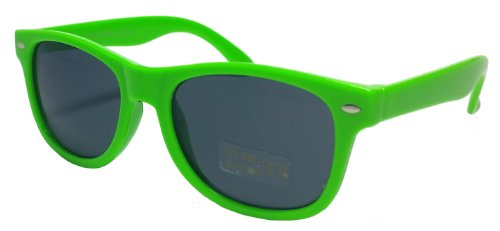 - Lunettes de soleil-enfant-verres teintés-protection uV400, style années 80 Vert - Vert