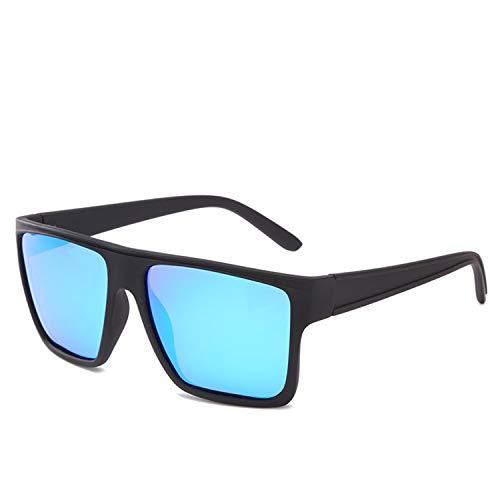 AOCCK Sonnenbrillen,Brillen, Ultralight Polarized Sunglasses Men Square Mirror Lens Sun Glasses Male Driving Traveling Sports Eyewear Goggles CC1089 C5 Blue mirror