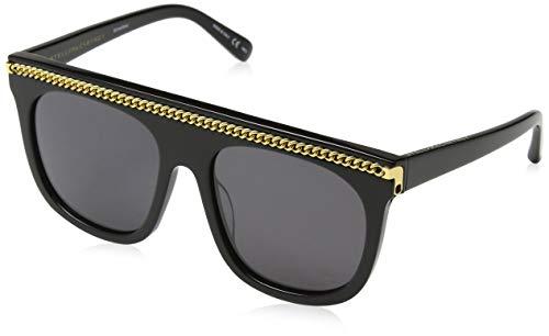 Stella mccartney sc0043s 001, occhiali da sole unisex - adulto, nero (001-black/smoke), 55