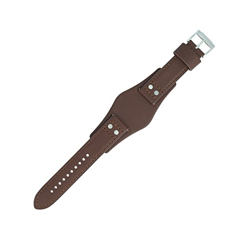 Ch Original (Fossil Uhrenarmband 22mm Leder Braun Glattleder - Uhrband Set CH-2565)