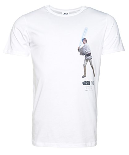 Mens White Star Wars Luke Skywalker Lightside T Shirt from Hype (Tee Allegiance)