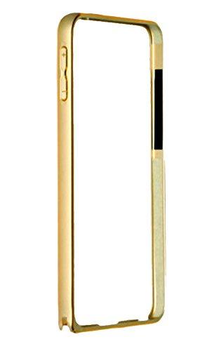 SDO Luxury Dual Tone Arc Edge Screwless Metal Bumper Case Cover for Samsung Galaxy S4 i9500 (Gold)