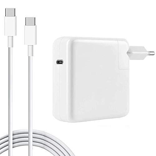 Ersatz-Ladegerät für MacBook Pro, 61W USB-C auf USB-C Ac Adapter Ladegerät für MacBook Pro 12 Zoll 13 Zoll (61W USB-C)
