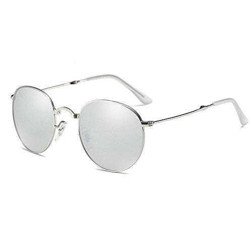 Yzcx pieghevoli moda occhi di donna uomo specchio metallo telaio occhiali da sole sunglasses lenti polarizzate uv400