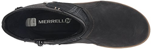 Merrell Ashland Vee Mid Waterproof Black Womens Boot Noir