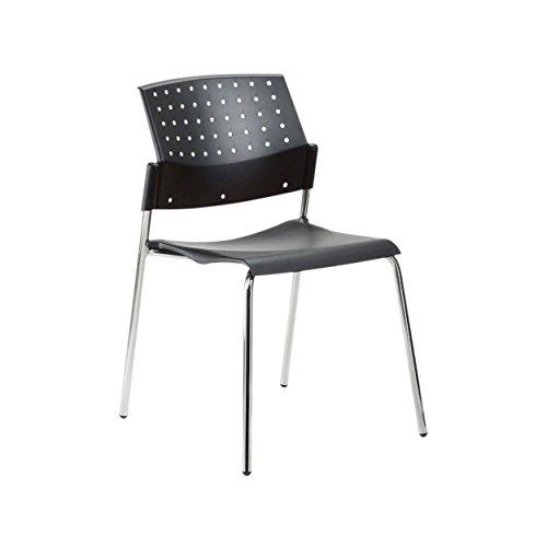 Stapelstuhl, Besucherstuhl aus Holz, Konferenzstuhl, Bürostuhl, Wartezimmerstuhl
