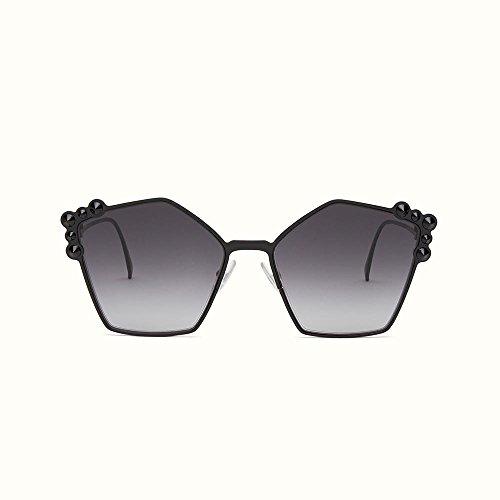 Fendi ff 0261/s 9o 2o5, occhiali da sole donna, nero (black/grey), 57