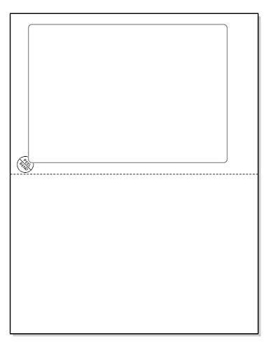 Click Schiff integrierte Etiketten mit Eingang, für Online Etiketten Abreißen. 8-1/5,1x 27,9cm Tabelle mit One Label 17,3x 12,1cm für USPS, eBay, PayPal, Etsy, etc. 50 (Etsy Ebay)