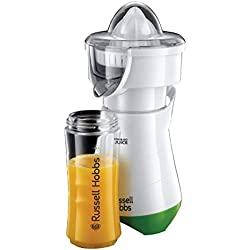 Russell Hobbs 21352-56 Mixeur Blender Electrique Mix and Go, Presse Agrumes 600ml, Gourdes pour Transport