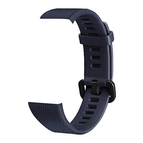 WAOTIER für Huawei Band 3 Band 3 Pro Armband Silikon Armband mit Schwarzem Verschluss Ersatzarmband Kompatibel für Huawei Band 3/3 Pro Atmungsaktiver Wasserdichter Armband für Männer Frauen (Blau)