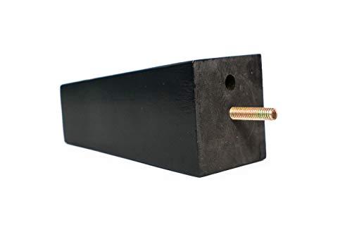 Tinnhi Design 13,7 cm keilförmiges Sofa Beine, Ottoman, Couch, Möbel, 4er-Set schwarz -