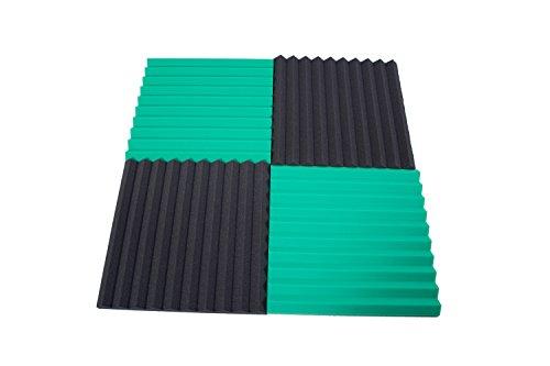Pannelli Fonoassorbenti Monopiramide 50x50x4 pacco da 20 Misto (10 Neri + 10 Verdi)