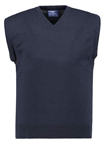 BARBONS Herren Pullunder - V-Ausschnitt - Modern-Fit - Hochwertige Baumwollmischung - Feinstrick-Weste - Navy (Pullunder) XL