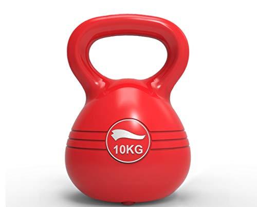 Body Coach Kettlebell Kugelhantel 10 KG Gewicht für Krafttraining & Cross-Fit - Breiter Griff für einhändige und zweihändige Nutzung