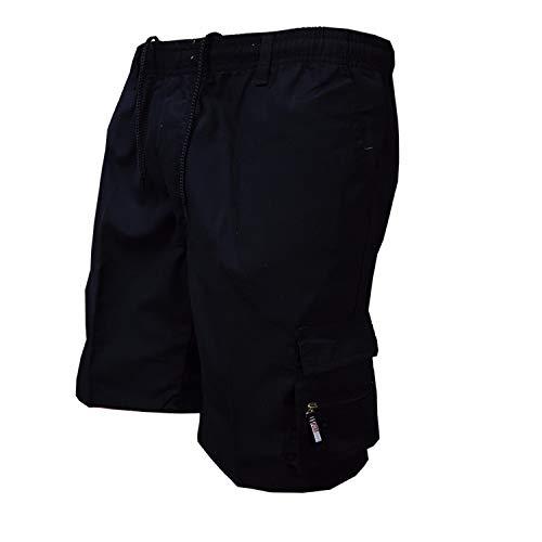 Herren Laufen Board Shorts mit einstellbare, Slim fit Schnitt Besonders weich und bequem Herren Sweatshorts Kurze Hose,Einfarbige Overalls mit Mehreren Taschen, lose 2 XL