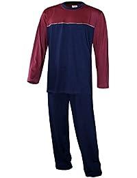 Schlafanzug lang Herren Pyjama lang Hausanzug langarm Herren 100% Baumwolle Model MoonLine
