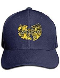 Womens Cap Wu Tang Clan Classic Yellow Distressed Logo Adjustable White Snapback