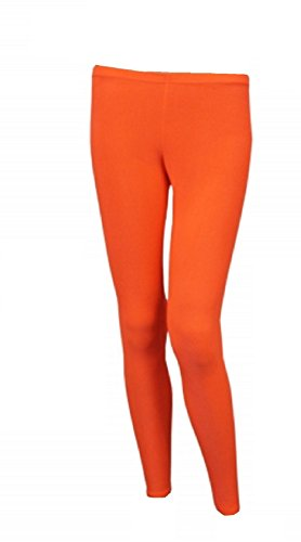 Ladies Orange Lycra Stretch Leggings - three sizes from 8 to 16