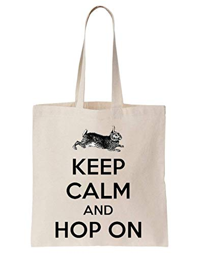 Easter Keep Calm And Hop On Bunny Schultertasche Tote Bag