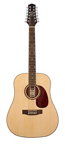 Ashton D25/12NTM 12-saitige Akustik Gitarre naturholz