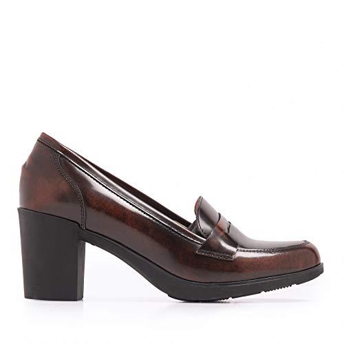 Castellanisimos Mocasines Piel Antifaz Marrones Zapato