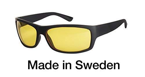 Blaulichtfilter - Sportbrille - Wrap-around Brille, Blue Blocker mit Kantenfilter 450, UV-Schutz, Blendschutz, kontraststeigernde Unisex-Lichtschutzbrille IV PROSHIELD