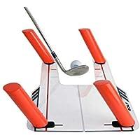 TTLIFE Ayuda de Entrenamiento de Swing de Golf Easy Path con Base de acrílico y 6 Varillas de Ruta