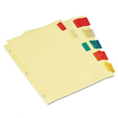 Universal Economical Insertable Index, Multicolor Tabs, 5-Tab, Letter, Buff, 6