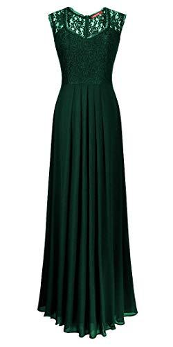 Romantic-Fashion Damen Abendkleid Cocktailkleid Lang Ballkleid Modell B622 Ornamente Applikationen...