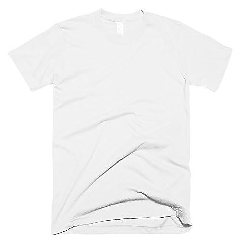 American Apparel Unisex Plain Short Sleeve Cotton T-Shirt (M) (White)