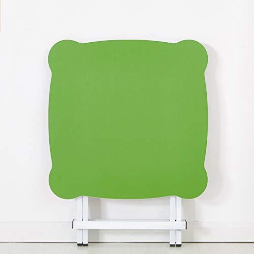 HQCC Klapp Esstisch, Haushalt Esstisch, tragbare Stall Tisch, Balkon Klapptisch (rund blau 60 * 60 * 50-75cm) (Farbe : Blau) - Klapp-esstisch