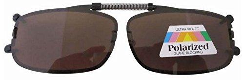 Aufsatz Sonnenbrille für Brillenträger Sehstärke Clip Brillenaufsatz Sonnenbrillenaufsatz Sonnenbrillenclip neu (braun)