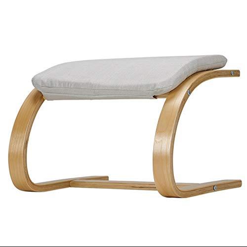Puff Schaukelstuhl (ZHM Change Shoes Hocker Holz Runder Fußhocker Schaukelstuhl Lounge Chair 510x405x345x465mm)