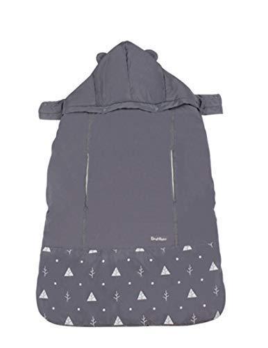 HB.YE Winter Cover Babytrage Baby Tragecover Winddicht Wasserdicht Mantel Schlafsack Multifunktionale Verstellbare Taille Hocker Kinderwagendecke (Grau) -