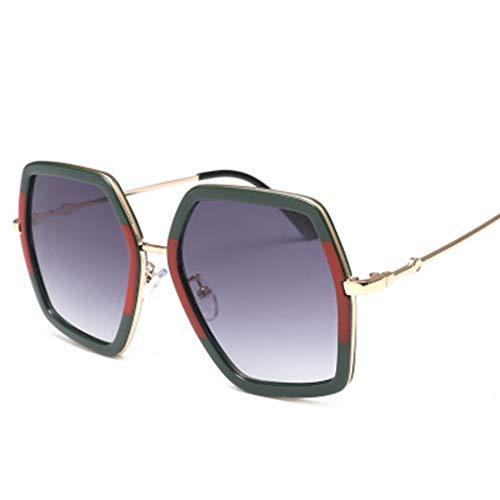 fazry Damen und Herren Sonnenbrille, groß, Metall Gr. Einheitsgröße, grün
