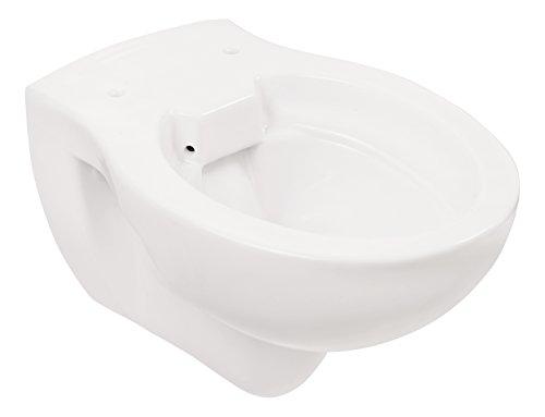 Wand-WC | Spülrandlos | Tiefspüler | Abgang waagerecht | Weiß | Toilette | Spülrandloses WC | Klo | Hänge-WC | Randlos