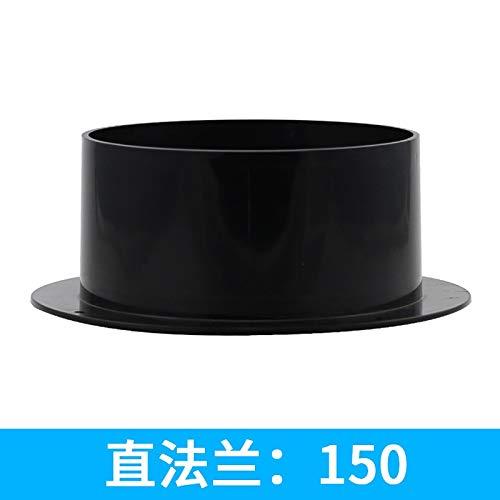Wnuanjun, 4~6 Zoll ABS-Qualitäts-gerader Rohr-Flansch-Lüftungskanal-Verbindungsstück; 100 mm / 125 mm / 150 mm (Color : 150mm) -