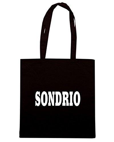 T-Shirtshock - Borsa Shopping WC0963 SONDRIO ITALIA CITTA STEMMA LOGO Nero