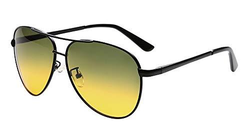 FIYOMET Sonnenbrille Tag und Nacht Polarisierte Nachtsichtbrille Fahren Freizeit Reise Spezial Spiegelbrille R2081