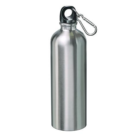 Edelstahl Sportflasche 0,75 l Trinkflasche Fahrradflasche Wasser Sport Flasche