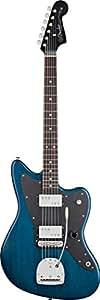 Guitares électriques FENDER JAZZMASTER LEE RANALDO SIGNATURE SAPHIRE BLUE TRANSPARENT Rétro - néo-vintage
