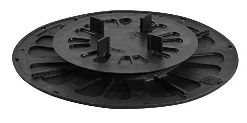 Gartenwelt Riegelsberger Support pour plaques de Cuisson en céramique Hauteur réglable pour carrelage Béton Fabriqué en Allemagne Support de terrasse Plateau tournant Support 11-15mm