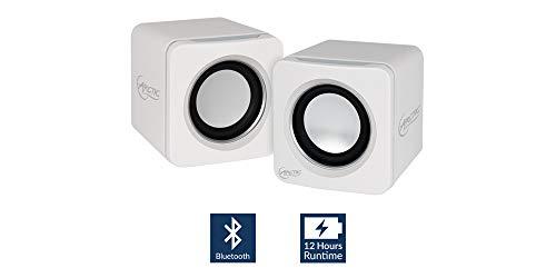 ARCTIC S111 BT - Mobiles Bluetooth-Soundsystem I Wireless Mini Speaker mit überzeugender Klangqualität für Smartphone, Tablet oder Laptop I Kraftvolle Bässe und kompaktes Design - Weiß