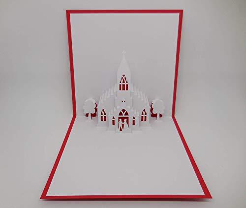 Pop up Karte - Hochzeit - Kirche (Karten Kirche-einladung)