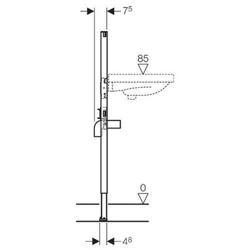 Erstaunlich Geberit Duofix Waschtisch Element 1120 mm, 1 Stück, GEB111430001  SJ89