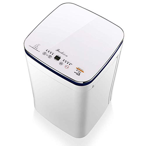 FIOFE Babywaschmaschine, Vollautomatische Wäsche, 4,5 Kg Hochtemperaturwäsche, 24-Stunden-Vorreservierung, Kindersicherung, Energiesparend Und Geräuscharm, Platzsparend, LED, Weiß, Unterwäsche