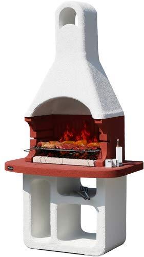 Barbecue in muratura Sunday Modello Korsika, Funziona a carbonella